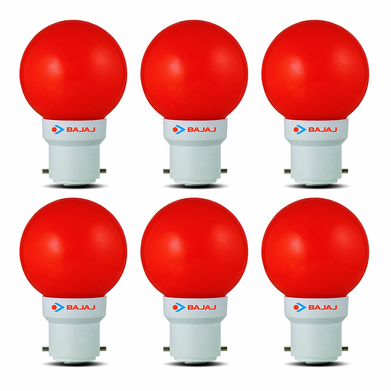 Bajaj Ping Pong 0.5watt RED (Pack of 6)