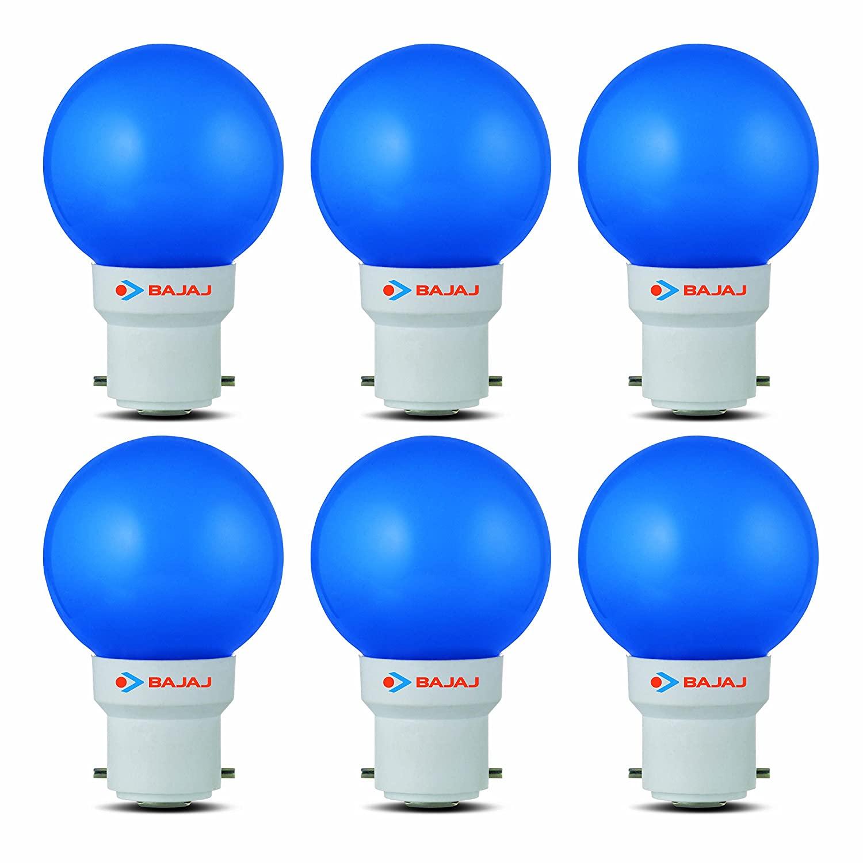 Bajaj Ping Pong 0.5watt BLUE (Pack of 6)